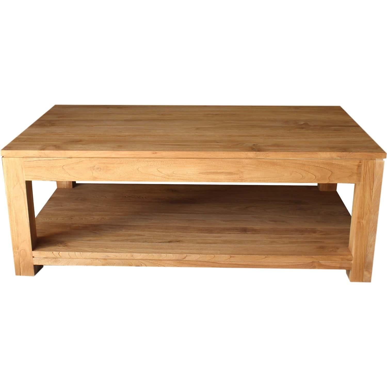 table basse teck bross 2 tiroirs. Black Bedroom Furniture Sets. Home Design Ideas