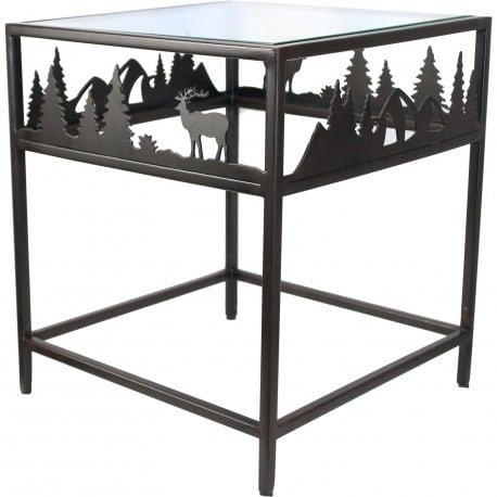 Table basse bout de canap m tal et verre - Table basse metal et verre ...