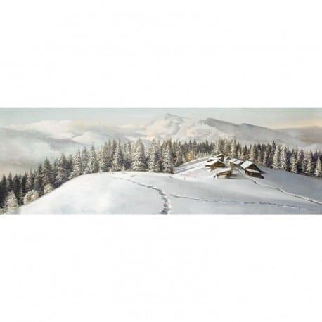 Tableau petit hameau dans la montagne