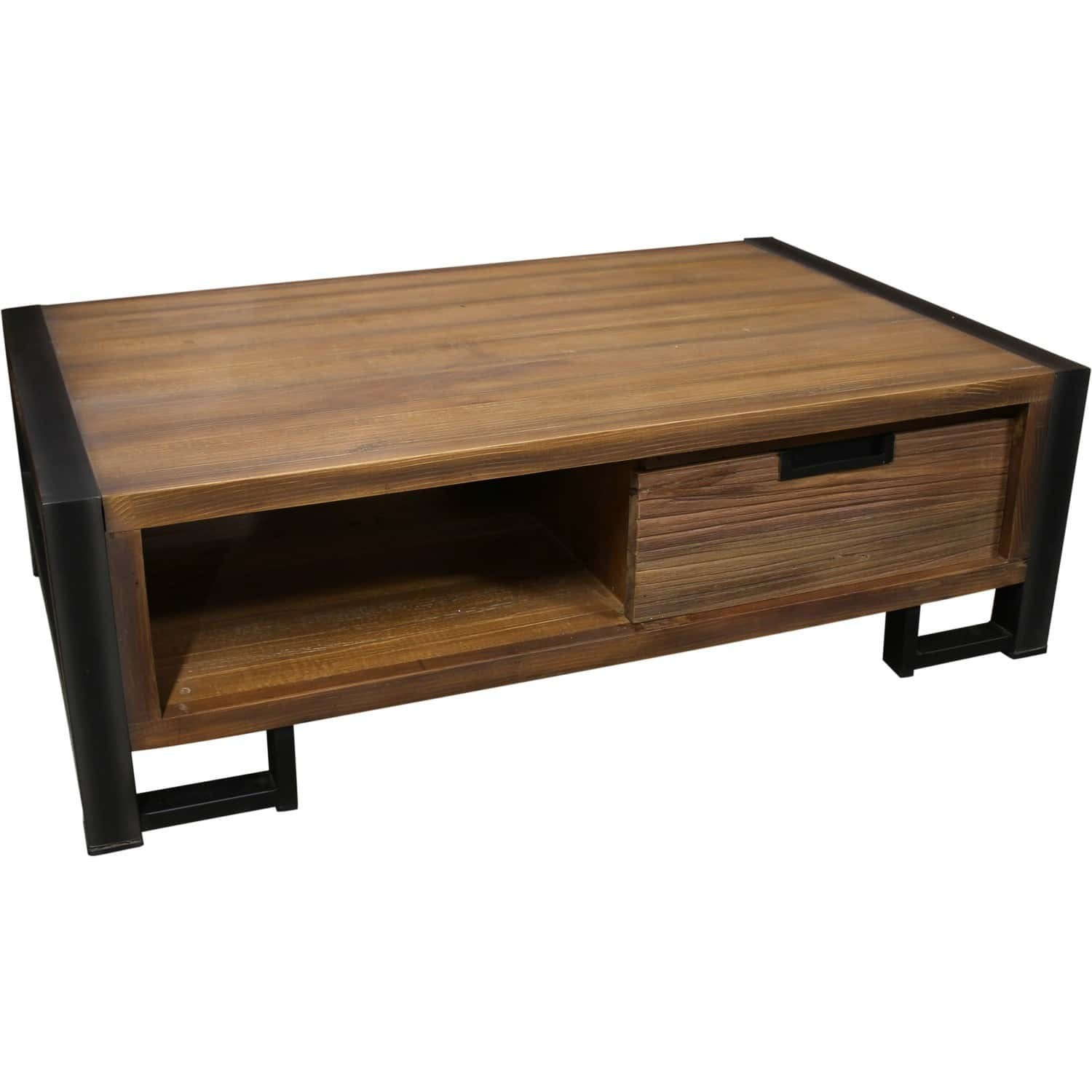 Table basse amazone - Table basse carree bois metal ...