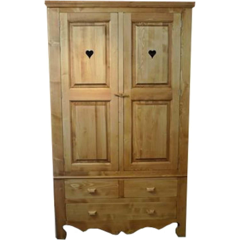 armoire 2 portes 3 tiroirs. Black Bedroom Furniture Sets. Home Design Ideas