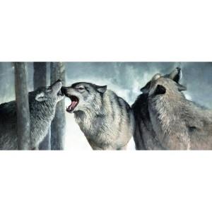 Toile sur chassis horde de 4 loups