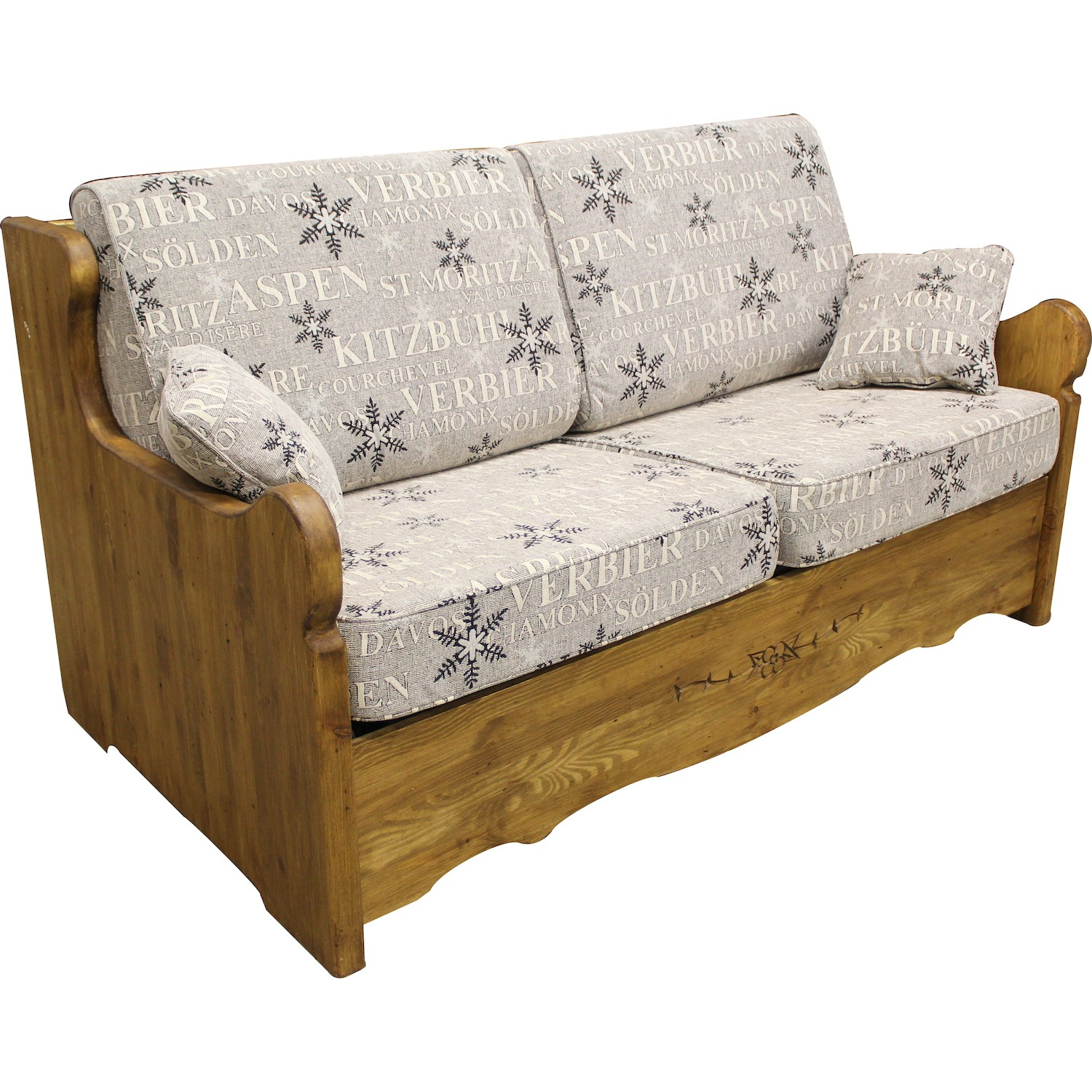 canap yret convertible en bois patin bed express