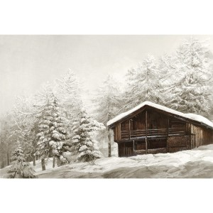 Toile sur chassis chalet isole