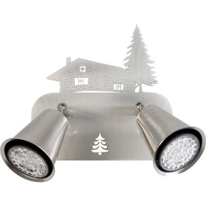 Spot 2 lampes chalet sapin orientable