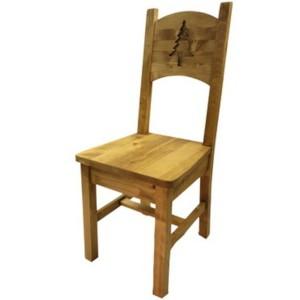 Chaise sapin sculpté