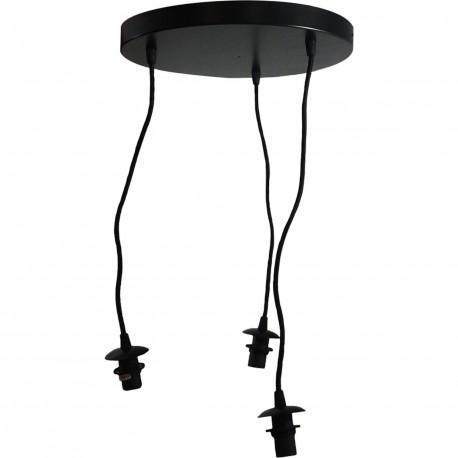 Suspension basique 3 lampes, sans abat-jour