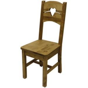 Chaise coeur en deux