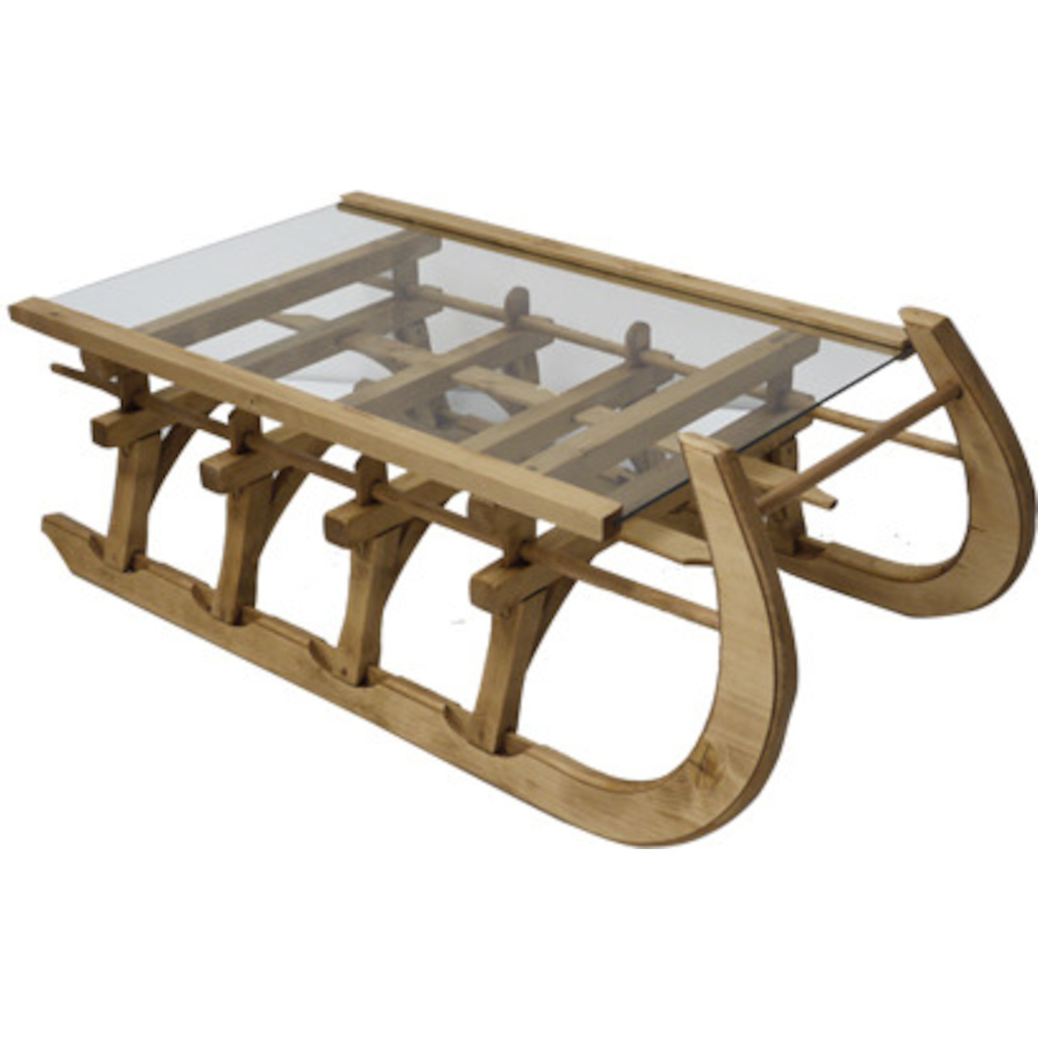 Table basse grande luge plateau verre cir - Table basse grande ...