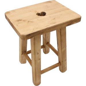 Tabouret rectangle coeur