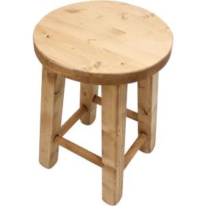 Tabourets originaux en bois style d co des montagnes - Peindre un tabouret en bois ...