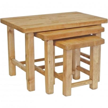 Serie de 3 tables gigogne