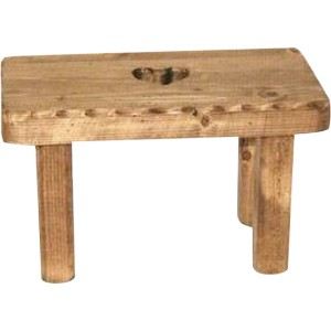 Tabouret enfant rectangle coeur vague