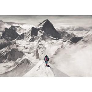 Tableau alpiniste sur l'arrete