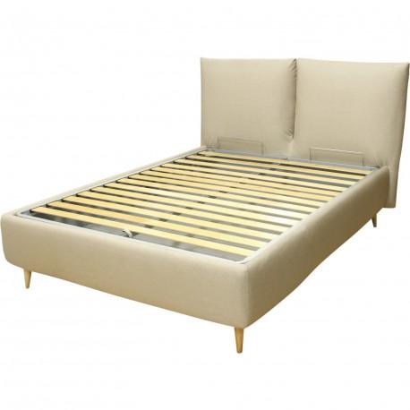 lit coffre avec t te de lit coussin london. Black Bedroom Furniture Sets. Home Design Ideas