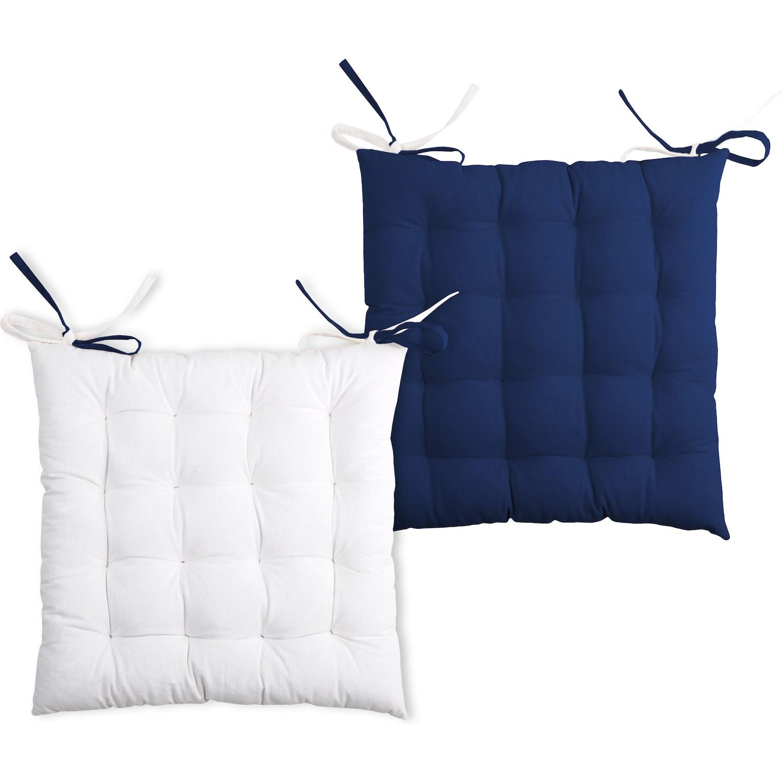 galette de chaise bicolore reversible. Black Bedroom Furniture Sets. Home Design Ideas