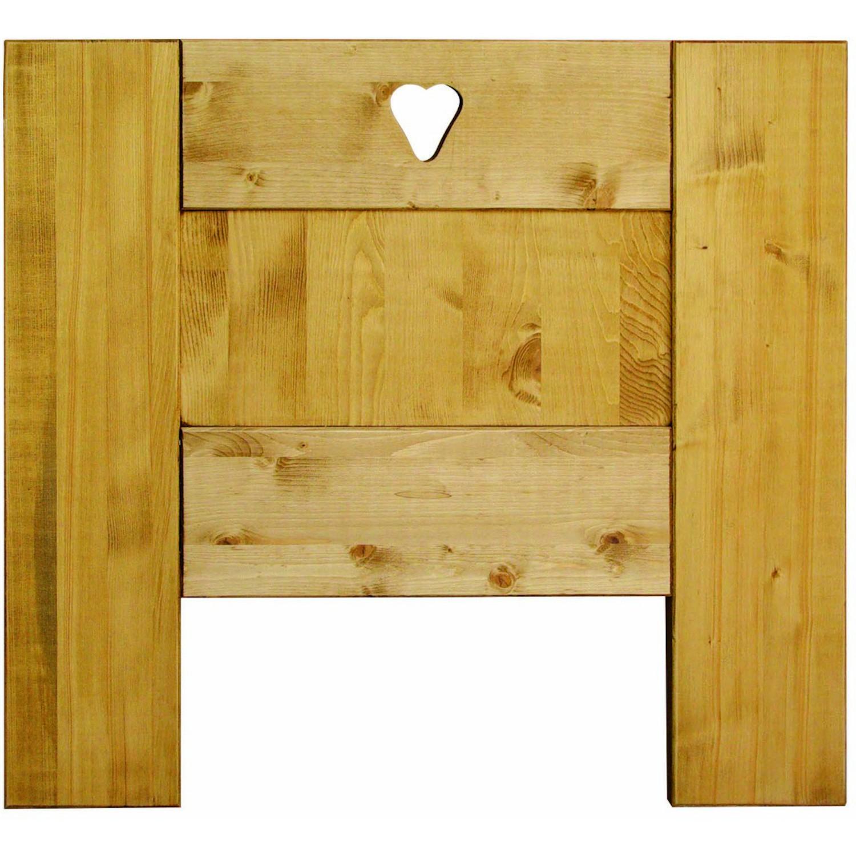 t te de lit bois massif droite coeurs d coup s. Black Bedroom Furniture Sets. Home Design Ideas