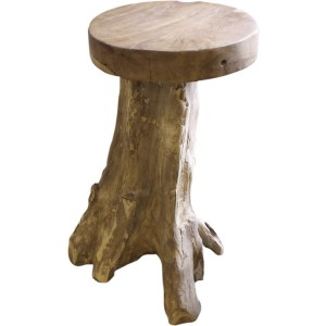 Tabouret de bar far teck massif (piéce unique)