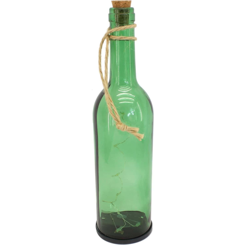 decoration de bouteille en verre les bouteilles en verre relook es en objets d co elle que. Black Bedroom Furniture Sets. Home Design Ideas