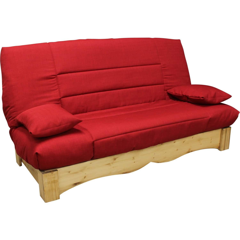 clic clac matelas 26 kg et socle en pin massif m ribel. Black Bedroom Furniture Sets. Home Design Ideas