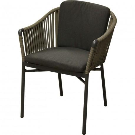 Chaise d 39 ext rieur aluminium avec coussin for Coussin chaise exterieur