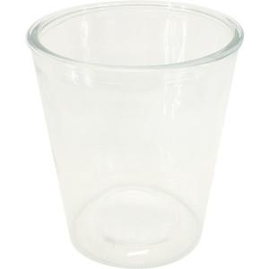 Pot en verre évasé