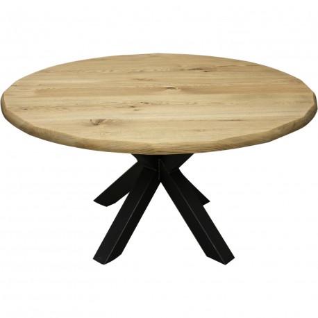 Table ronde en chêne massif trunk