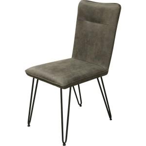 Chaise tissu et pieds métal foresta