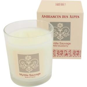 Bougie parfumée des alpes  165 gr