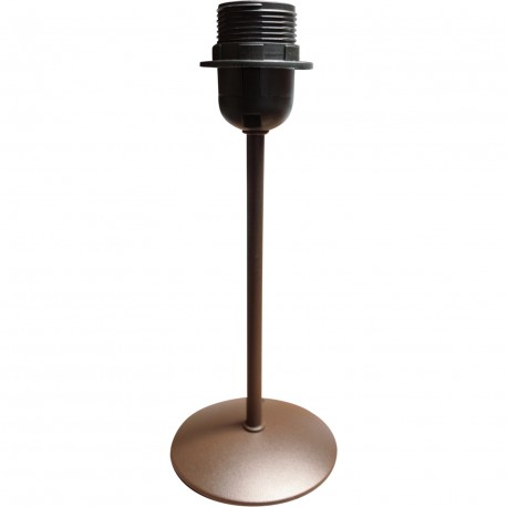 Pied de lampe rond métal (sans abat jour)