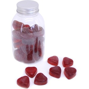 Minis coeurs verre rouge