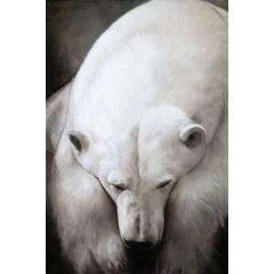 Toile sur chassis ours polaire le pecheur