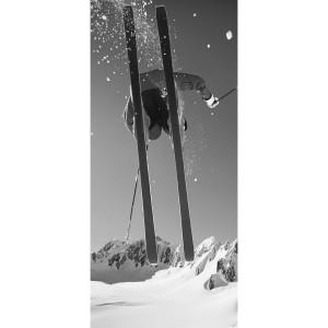 Toile sur chassis saut d'un skieur vintage