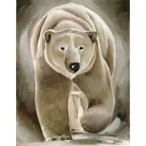 Toile sur chassis ours blanc de face