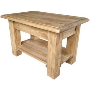 Table basse rectangulaire 2 plateaux