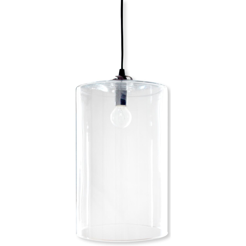 Suspension 1 Lampe Abat Jour Verre Grand Modele