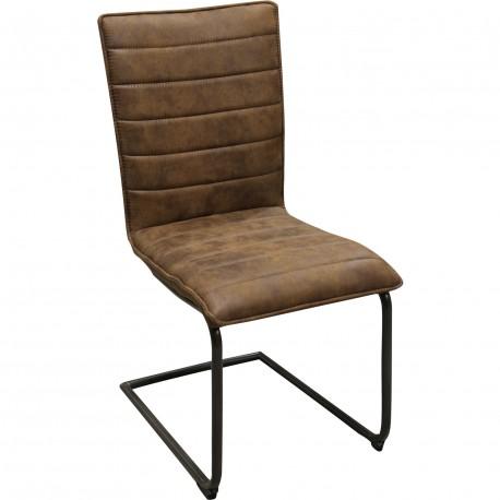 Chaise semi suspendue avec pieds en fer