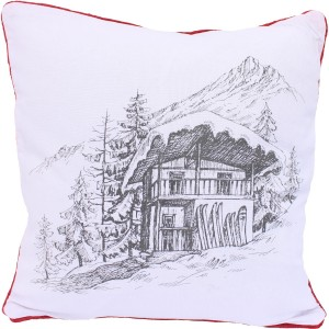 Coussin blanc chalet