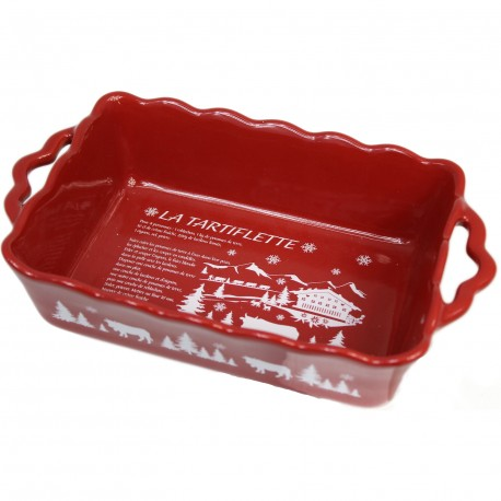 Plat four tartiflette rouge