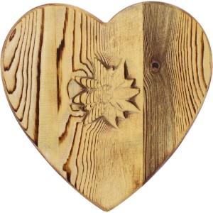 Dessous de plat coeur edlweiss sculpté