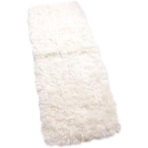 Tapis patchwork mouton blanc