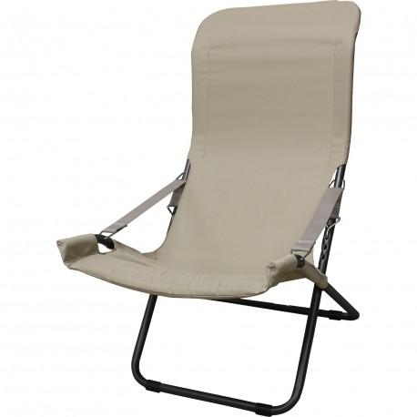 Chaise longue fiesta métal anthracite