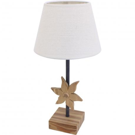 Petite lampe bois edelweiss
