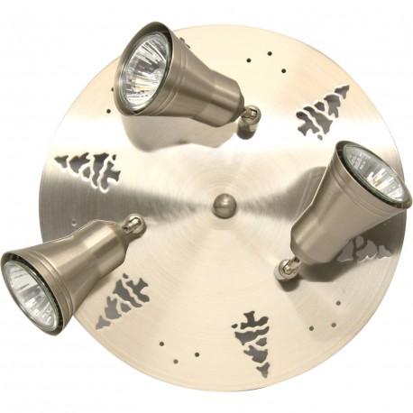 Spot/plafonnier 3 lampes sapin