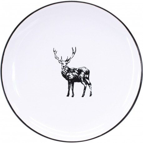 Assiette plate cerf