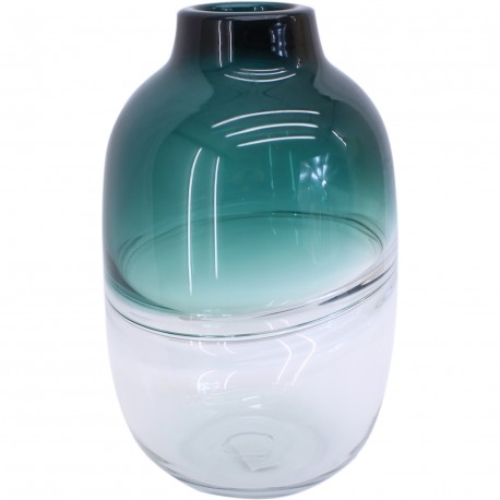 Vase bombé bicolore