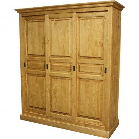 armoire 3 portes coulissantes. Black Bedroom Furniture Sets. Home Design Ideas