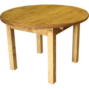 Table ronde diam 110. 1 allonge 40 cm