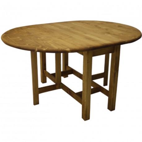 Table 2 abattants pieds droit huilé