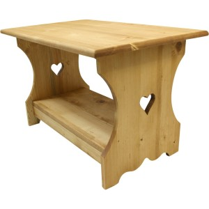 Table basse alpine coeur 100